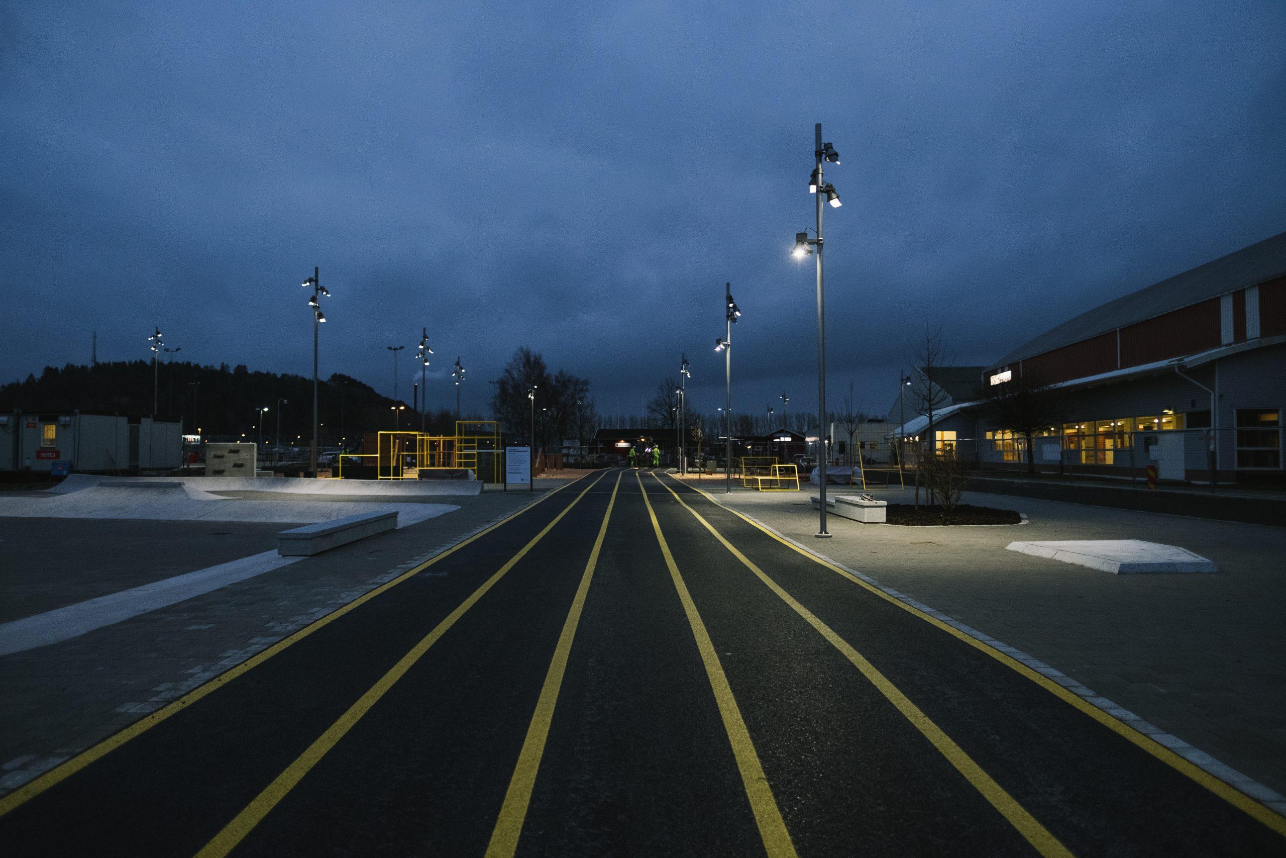 kungsbacka aktivitetspark by night
