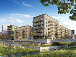 Betonmast bygger nytt bostadskvarter i bromsten.