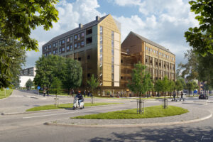 Betonmast Göteborg bygger bostäder på Litteraturgatan.